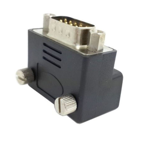 DB 9 pin To DB9 RS232 Male to Female extension Cable adapter Right Angled 90°