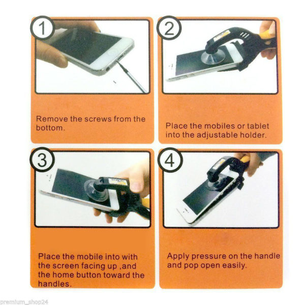 JAKEMY JM-OP10 LCD Screen Opening Plier Repair Tool & Suction Cups Disassembly