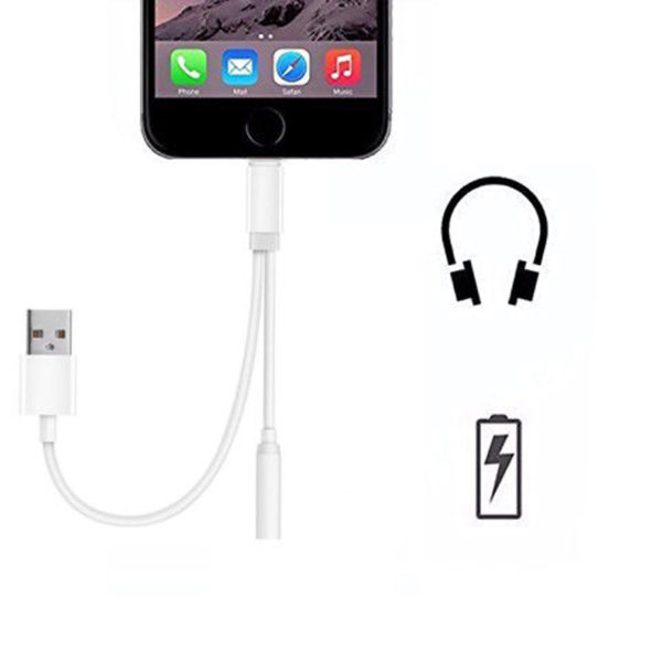 Lightning Jack Lightning Audio Output & Charge Adapter Cable for iPhone