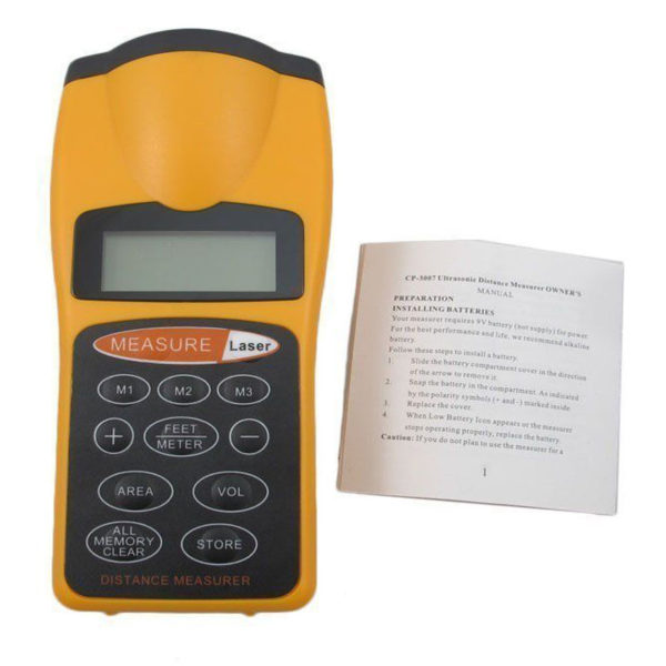 Laser Distance Meter Digital Ultrasonic Range Finder Measure Tape