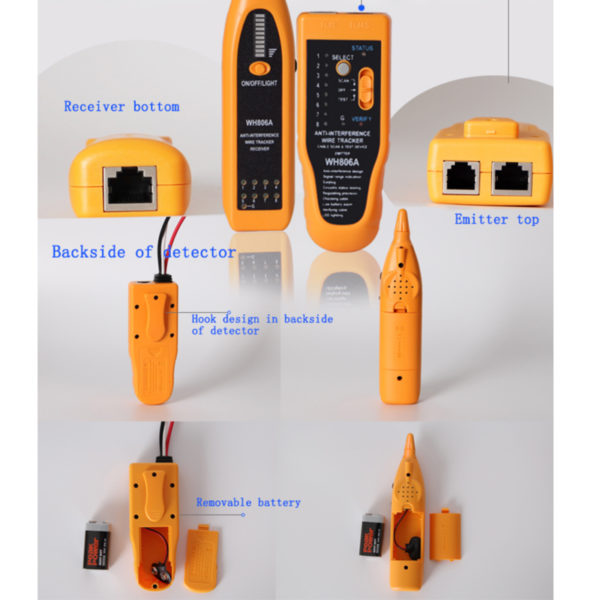 Telephone Wire Tracker Network Cable Finder Tester Detector RJ45