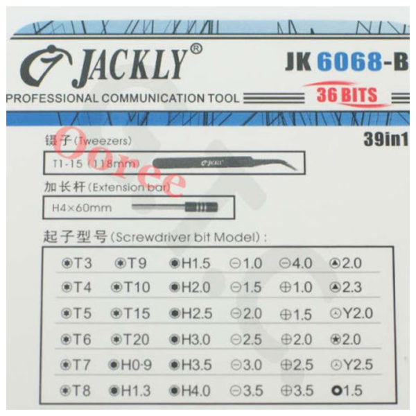 Jackly Precision Screwdriver Set 39-in-1 Multi Function Toolbox