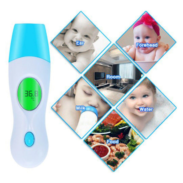 8 in 1 Ear Thermometer IR Infrared Forehead Digital LCD Baby Adult Body Care Kit