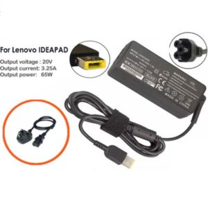 Laptop Charger AC Adapter 65W Rectangle USB Lenovo IDEAPAD G50-30 UK Power Cord