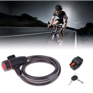 Bicycle Bike Cycle Spiral Steel Cable Lock/Strong Security Chain 2 Key 1.2 Meter