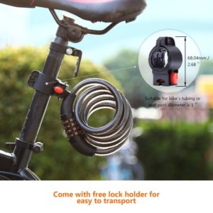 Bicycle Bike Cycle Lock 4 Digit Dial Code Combination Security