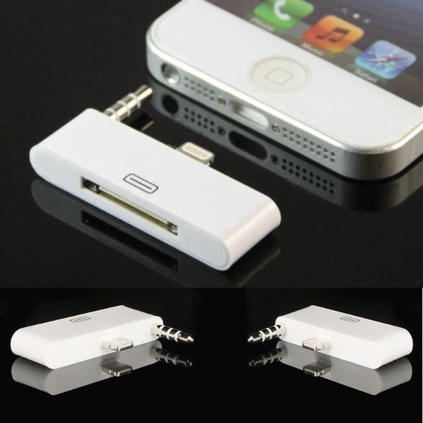 Audio Dock Adapter Converter Charger For Iphone 4 To 5 5c 5s Ipod 30Pin