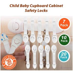 Child Baby Cupboard Cabinet Safety Locks Proofing Door Drawer Fridge Kids UK