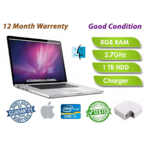 "Apple MacBook Pro 13"" laptop Core i7 2.7 GHz 8GB RAM 1TB HD  2011 UK"