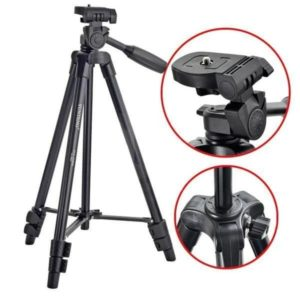 Yunteng-520 Portable Tripod 3 Way Head bag for Camera Binoculars Phone