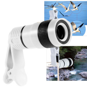 Universal HD 12x Optical Telescope Camera Lens Zoom Clip on For Mobile Phone