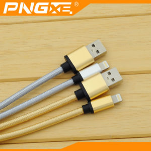 PNGXE Braided USB Lightning Sync Data Charging Cable Samsung S3 S4 S5 S6 S7 1M