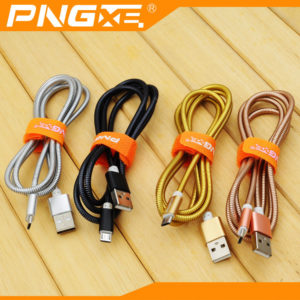 PNG Metal/Alloy Lightning Sync Data Charging Cable USB iPhone & iPad