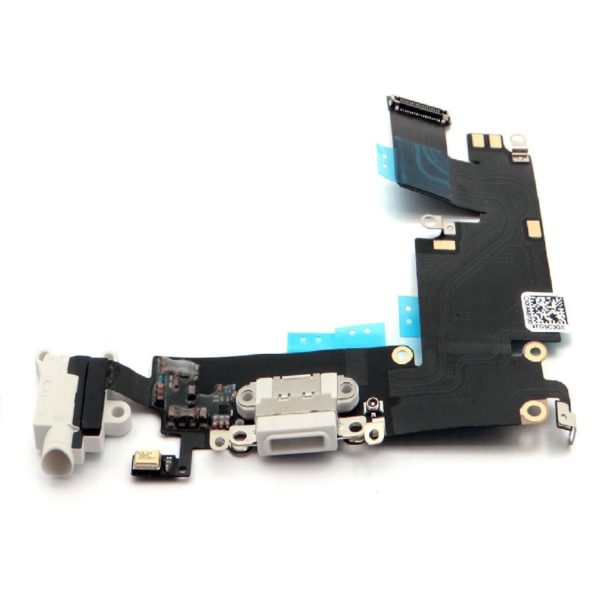 White Charging Port Dock Headphone Mic Audio Flex Cable For iPhone 6S 4.7''.